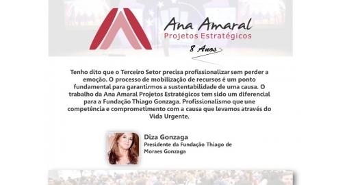 Diza Gonzaga, Presidente da Fundação Thiago Gonzaga, fala sobre nosso trabalho!