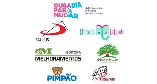 Expositores já confirmados para o 14º Congresso do Ensino Privado Gaúcho.