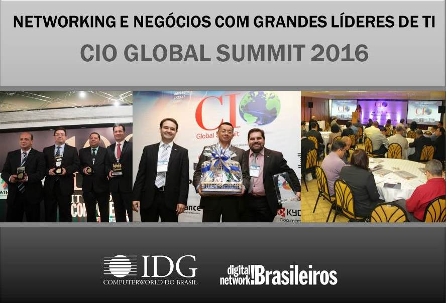 CIO Global Summit 2016 PR - BH - RJ - SP - RS - RE